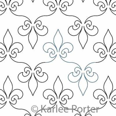 fleur de lis karlee porter digitized quilting designs Stylish Fleur De Lis Quilt Pattern
