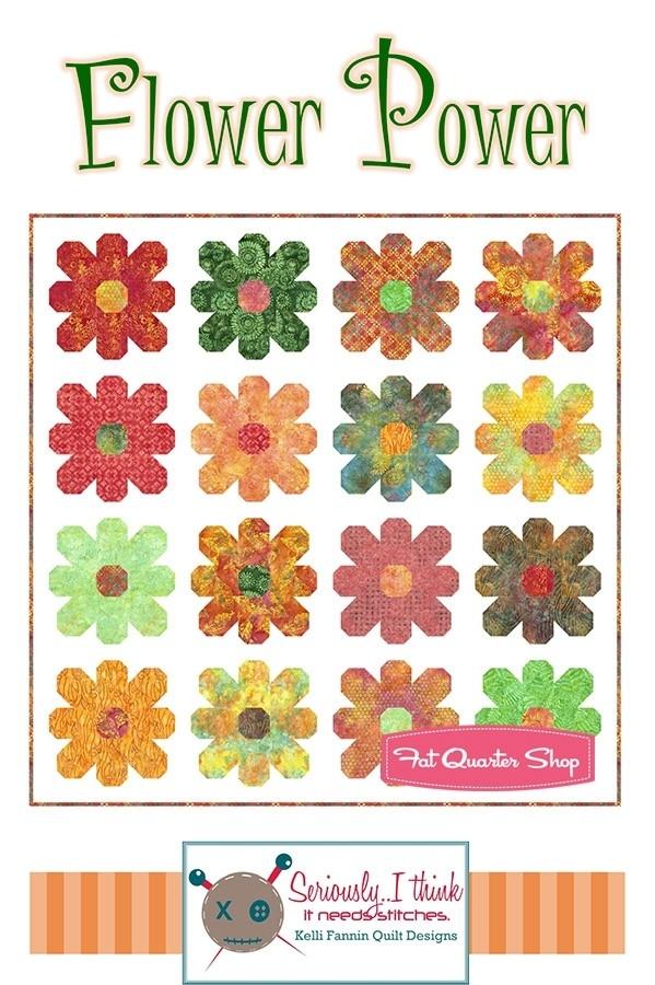 flower power downloadable pdf quilt pattern kelli fannin Modern Flower Power Quilt Pattern Gallery
