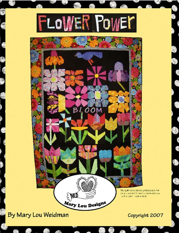flower power quilt instruction book mary lou weidman easy and fun Modern Flower Power Quilt Pattern Gallery