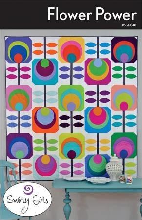 flower power quilt pattern swirly girls Modern Flower Power Quilt Pattern Gallery