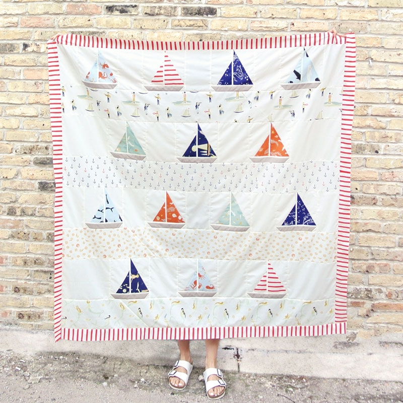 free ahoy sailor quilt pattern suzy quilts Quilt Pattern Sailboats Inspirations
