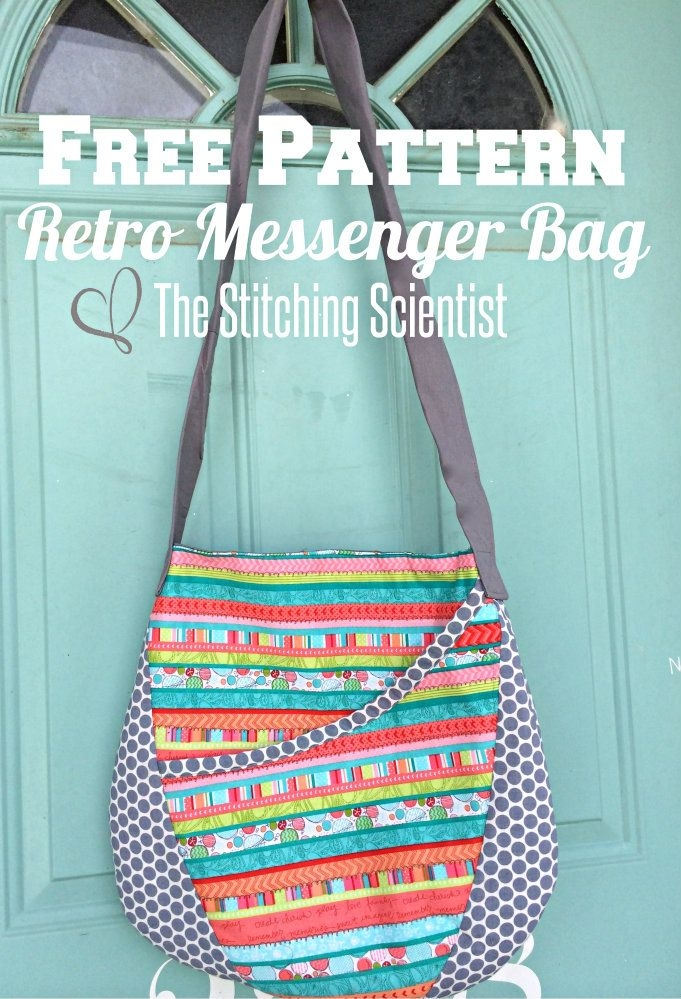 free bag patterns oval messenger bag sew whats that you Modern Quilted Messenger Bag Pattern