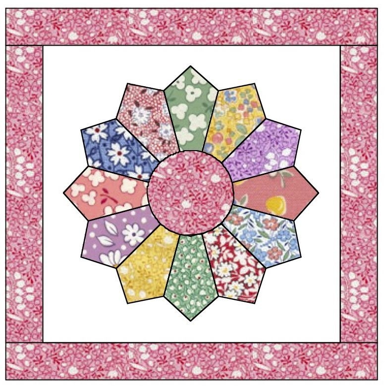 free dresden plate quilt pattern apple avenue quilts free Unique Dresden Plate Quilt Patterns Inspirations