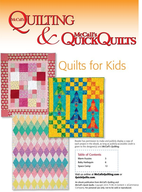 free kids quilt patterns from mccalls quilting instant Interesting Mccalls Quilting Patterns Free