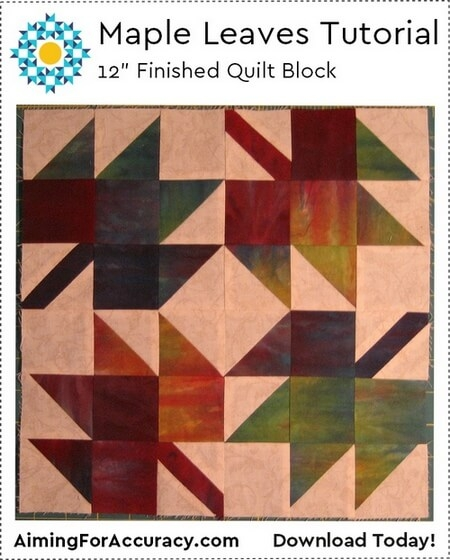 free maple leaves quilt block tutorial aiming for accuracy Elegant Maple Leaf Quilt Block Pattern Gallery
