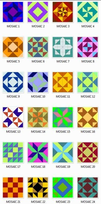 free mosaic patterns and designs mosaics quilt block Interesting Mosaic Quilt Patterns Gallery