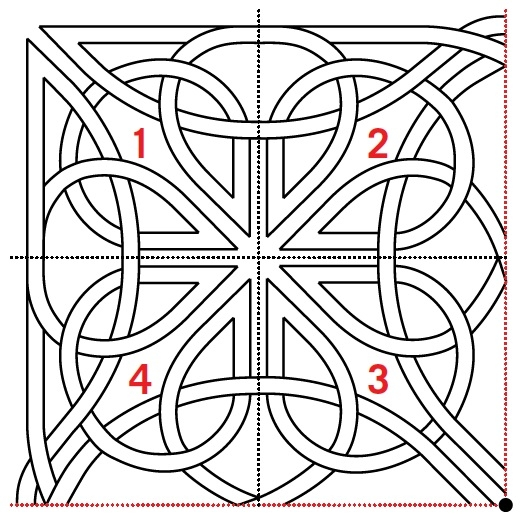 free pattern celtic knot quilting design aqs blog Unique Celtic Knots Quilt Pattern