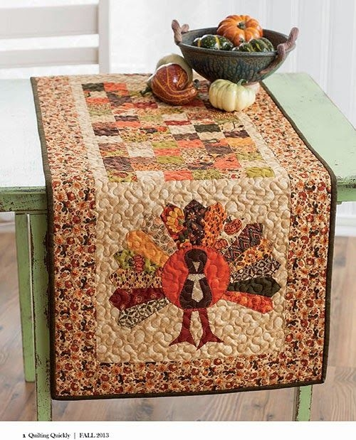free pattern day thanksgiving quilted table runners Stylish Thanksgiving Quilt Patterns