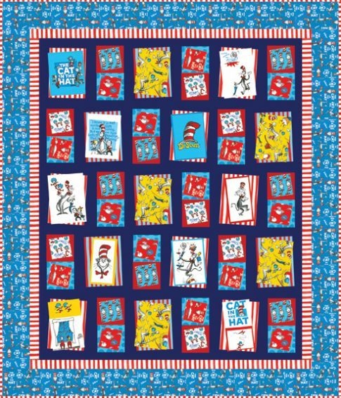 free pattern for cat in the hat quilt love the border of Interesting Cat In The Hat Quilt Pattern