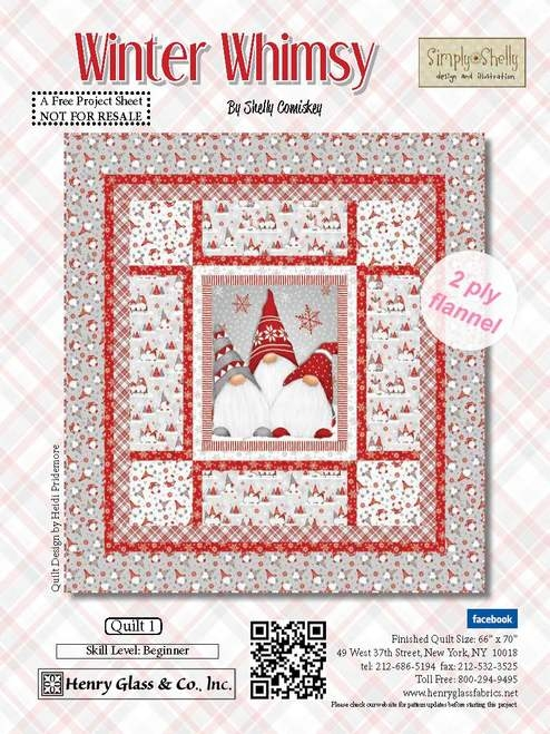free pattern winter whimsy quilt 1 Whimsical Quilt Patterns Inspirations