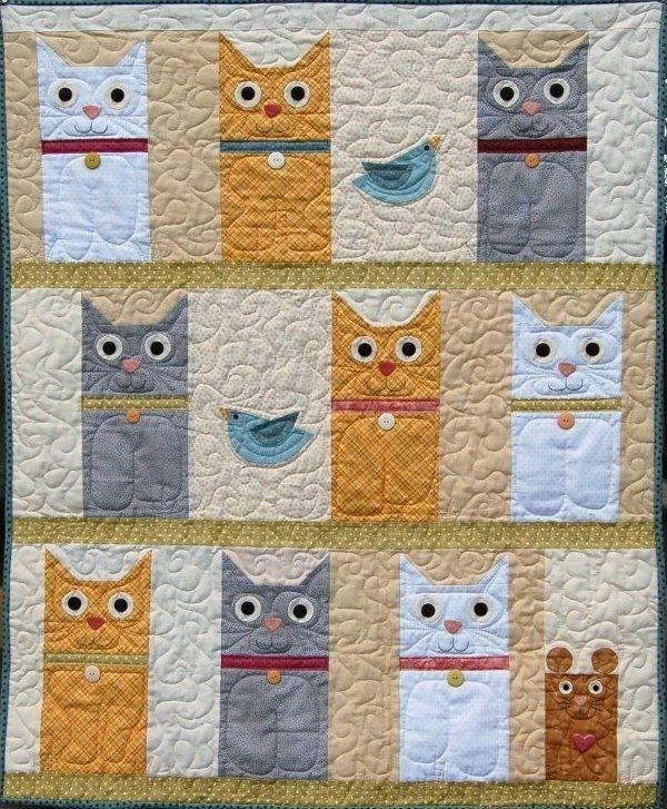 free printable cat quilt patterns quilt design creations Cozy Cat Quilt Patterns Inspirations
