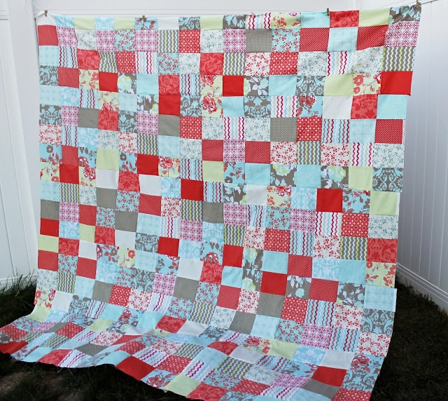 free quilt patterns for beginners easy patchwork the Cozy Easy Quilt Patterns Using Fat Quarters Gallery