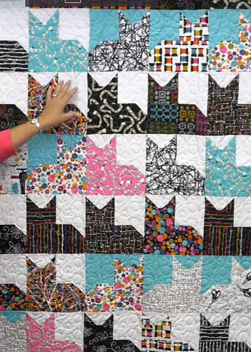 free quilt patterns free easy quilt patterns perfect for Cozy Cat Quilt Patterns Inspirations