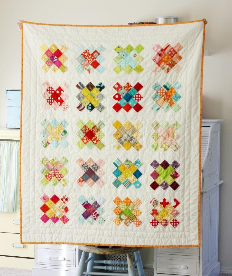 free tutorial granny square quilt block Elegant Granny Square Quilt Pattern