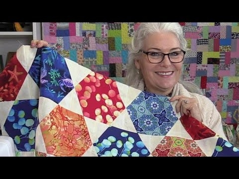 free unique hexagon star quilt pattern Unique Hexagon Quilting Patterns