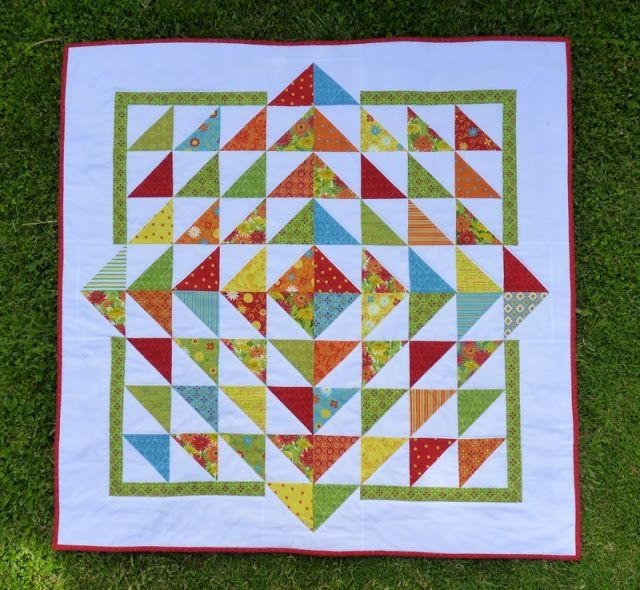fresh flowers quilt made with a charm pack of deb strains Cool Quilt Patterns With Charm Packs Gallery