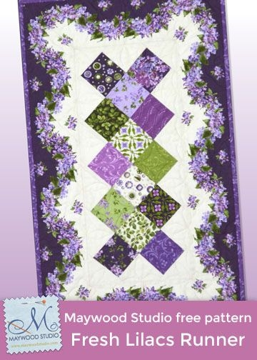 fresh lilacs table runner free pattern designed debbie Cool Debbie Beaves Quilt Patterns Inspirations