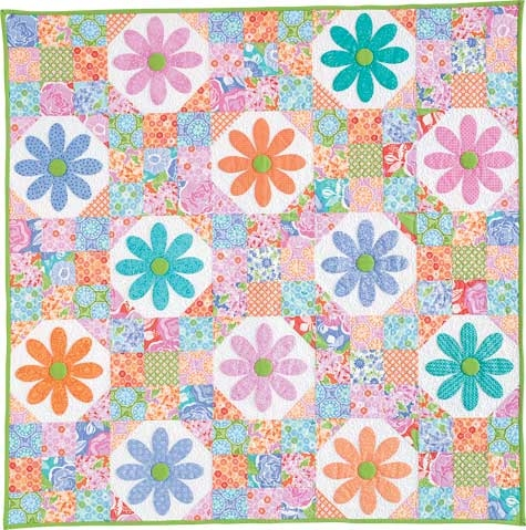 friday free quilt patterns oopsie daisy wall quilt Elegant Oopsie Daisy Quilt Pattern