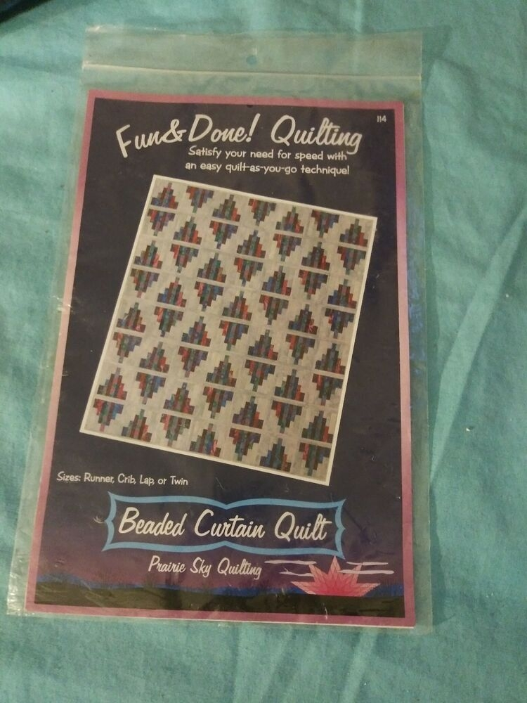 fun done quilting pattern 114 quilt as you go beaded curtain quilt new ebay Elegant Fun And Done Quilt Patterns