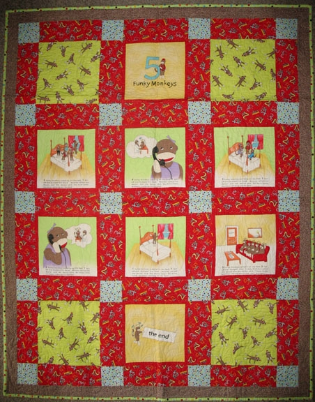 funky monkey fabric and kits admit one fabrics Unique Sock Monkey Quilt Pattern Inspirations