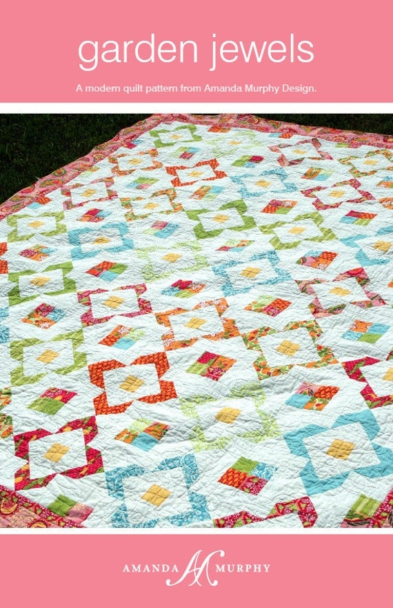 garden jewels quilt pattern amanda murphy amanda murphy design amd 013 Cozy Amanda Murphy Quilt Patterns