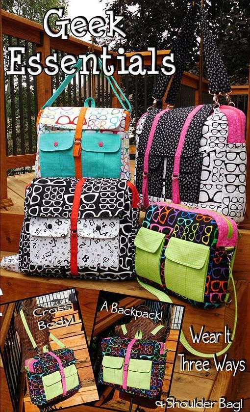 geek essentials convertible multi size laptop bag sewing Cozy Quilted Backpack Pattern Gallery