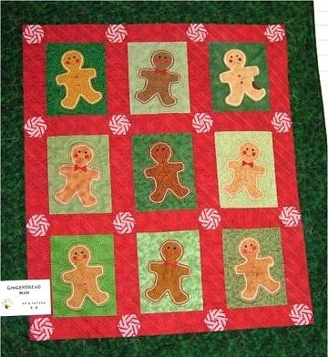 gingerbread man quilt pattern the virginia quilter Cool Gingerbread Quilt Pattern Gallery