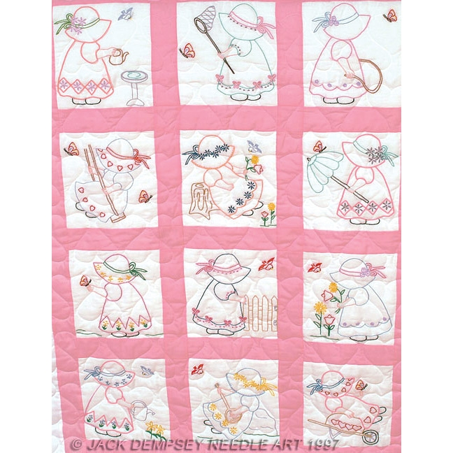 girls nursery quilt blocks Interesting Jack Dempsey Needle Art Baby Quilts