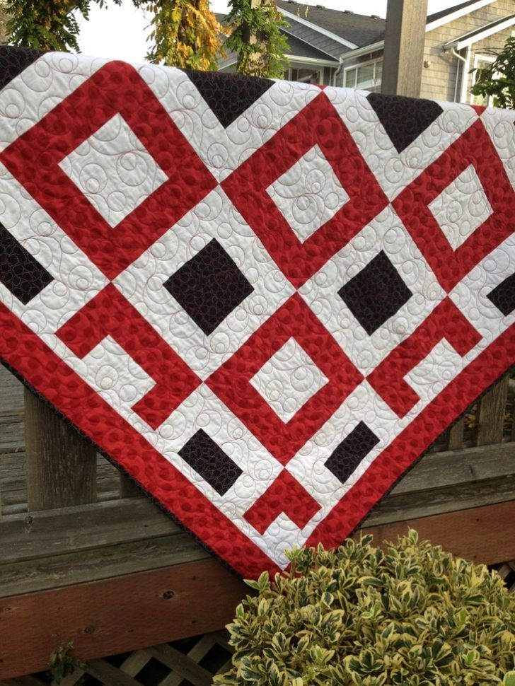 glamour easy 3 color quilt patterns jack of hearts pattern Elegant Three Color Quilt Patterns Inspirations