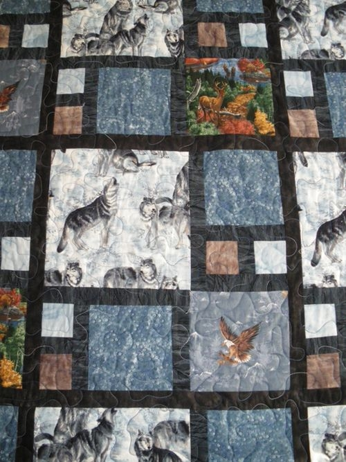 great quilt pattern for large print fabrics qca community Stylish Animal Print Quilt Patterns Inspirations