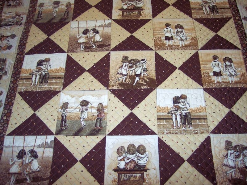 great simple idea for panels quilts photo quilts Cozy Photo Memory Quilt Patterns Gallery