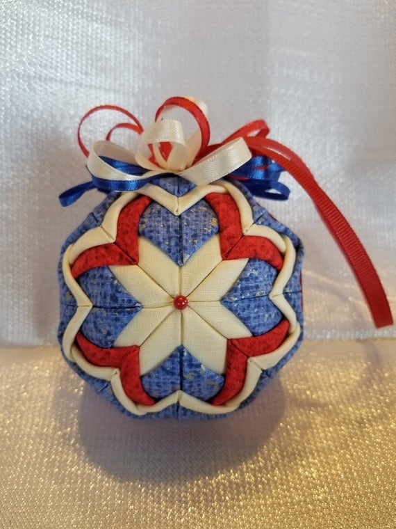 handmade ornament no sew quilted ornament home decor housewarming any occasion gift Cool No Sew Quilted Ornaments Gallery
