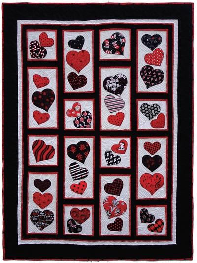 happy hearts quilt pattern Modern Heart Applique Quilt Patterns