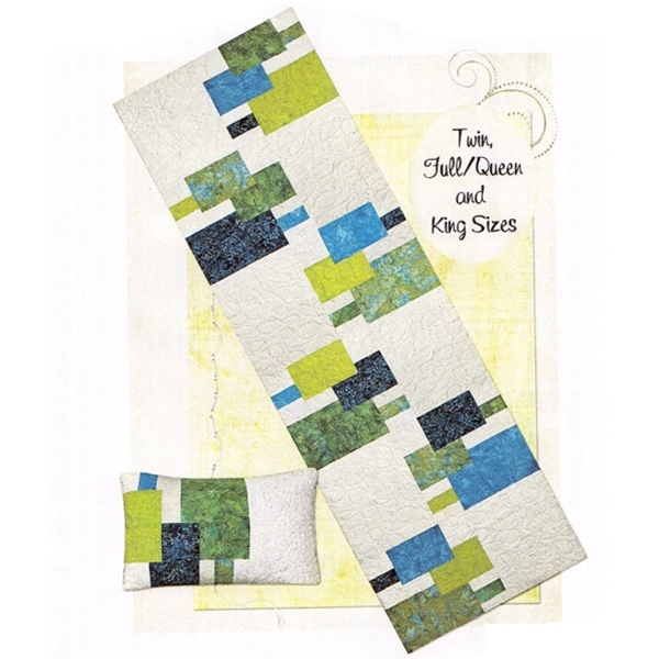 head to toe bed runner and pillow quilt pattern Elegant Bed Runner Quilt Patterns