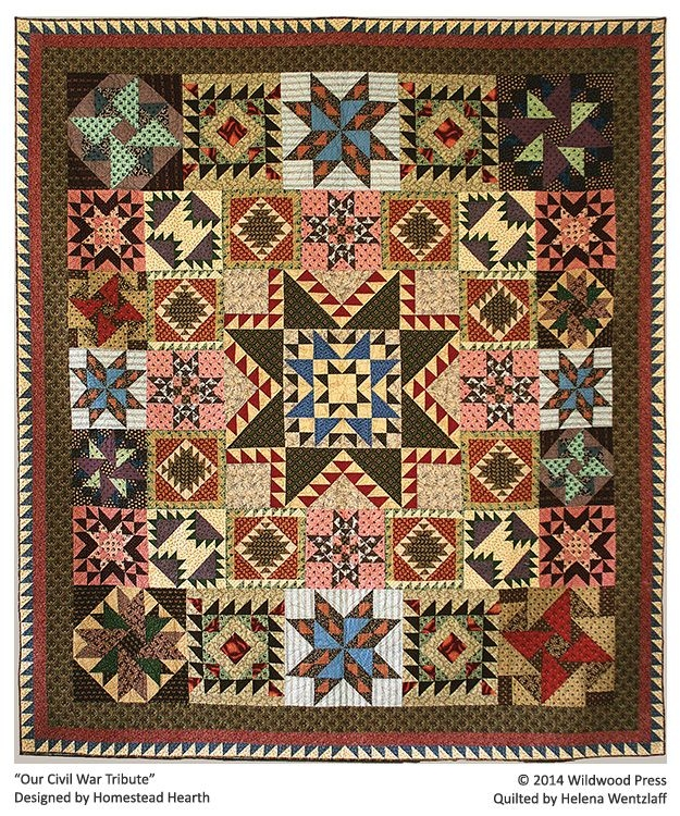 helena wentzlaffs quilting tradition sampler quilts Stylish Civil War Tribute Quilt Pattern