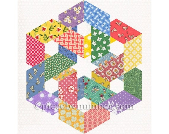 hexagonia quilt block pattern paper pieced quilt pattern instant download celtic knot quilt pattern hexagon quilt pattern geometric Stylish Hexagon Quilt Pattern