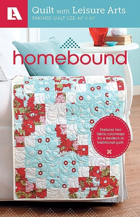 homebound featuring two fabric colorways for a modern or traditional quilt pattern pack Unique Two Fabric Quilt Patterns Inspirations