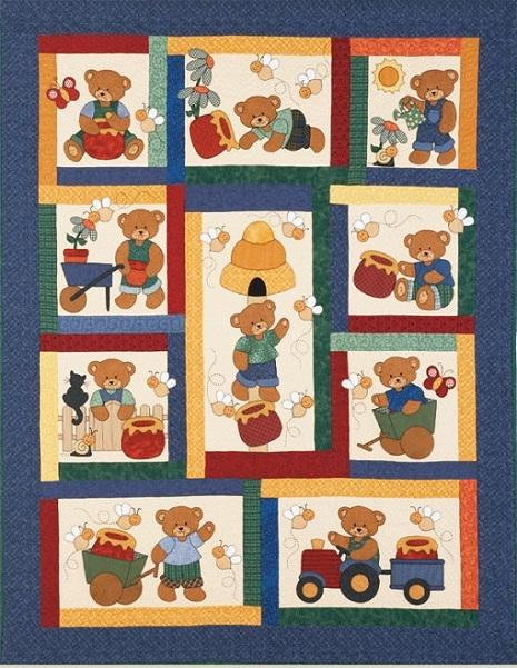 honey bear quilt pattern Unique Teddy Bear Applique Quilt Pattern Inspirations