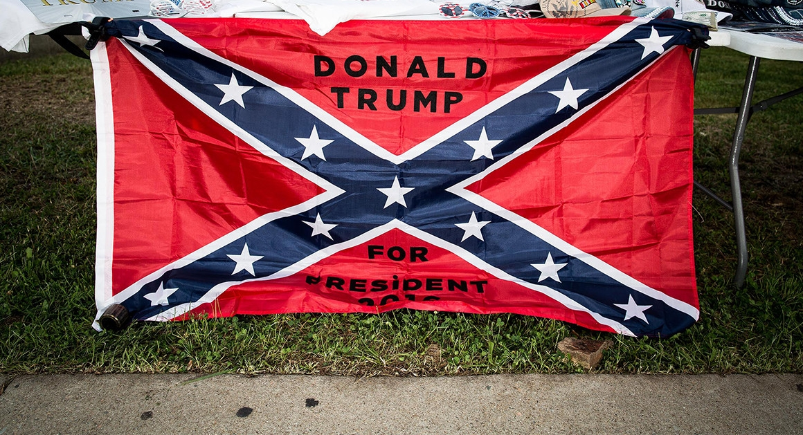 how the rebel flag rose againand is helping trump Unique Confederate Flag Quilt