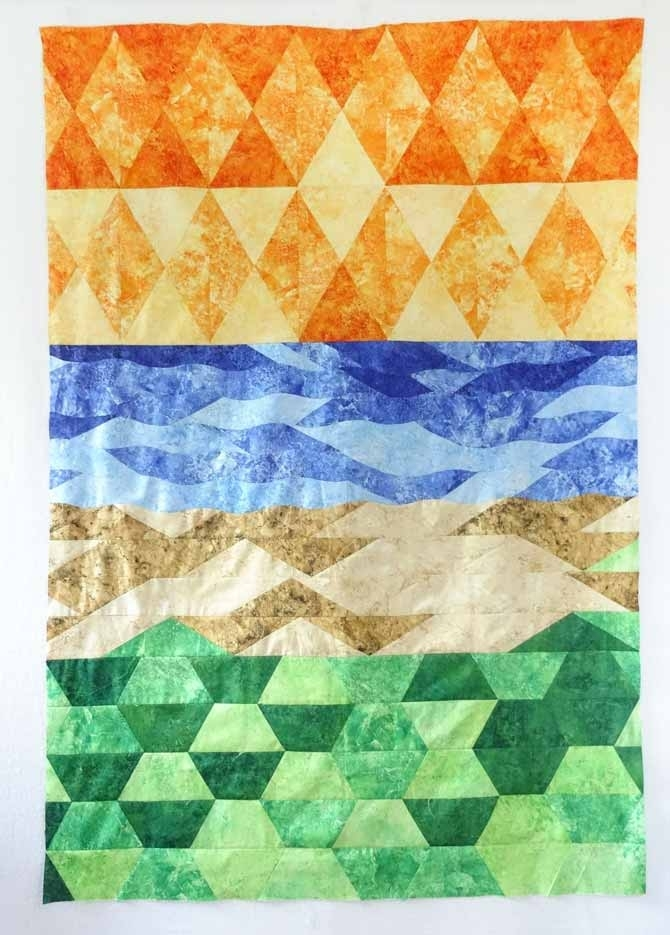 how these 3 quilting rulers create an impressionistic art Sew Easy Quilt Ruler Cutter Inspirations