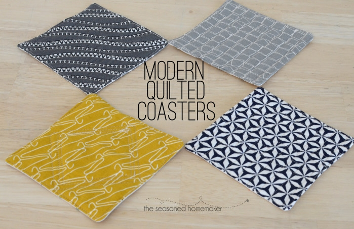 how to create quilted coasters in an hour or less Interesting Quilted Coaster Patterns
