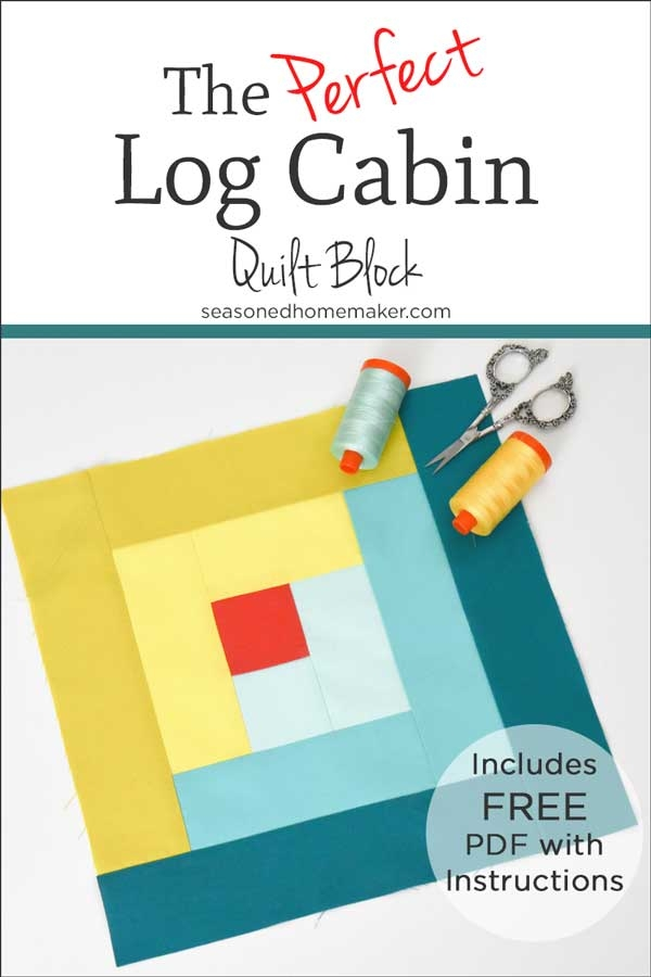 how to make a perfect log cabin quilt block the seasoned Cozy Log Cabin Quilt Pattern History
