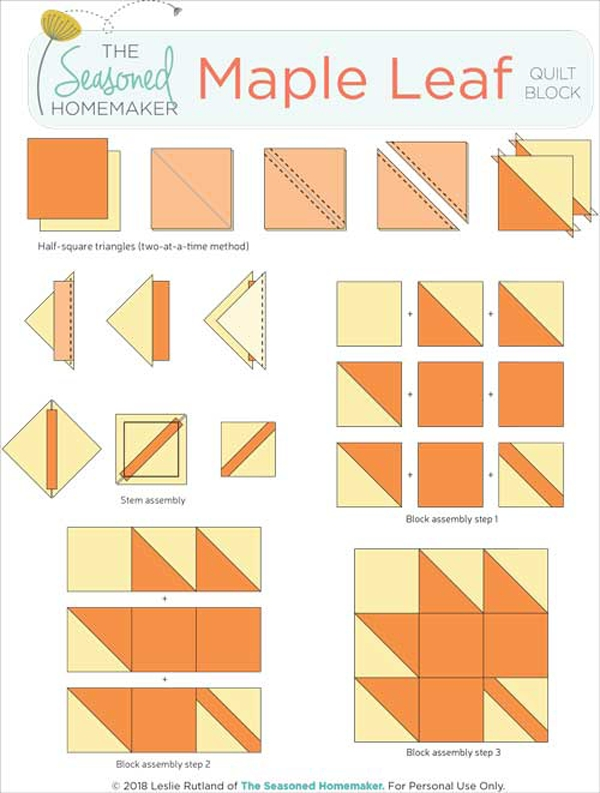 how to make a perfect maple leaf quilt block the seasoned Elegant Maple Leaf Quilt Block Pattern Gallery