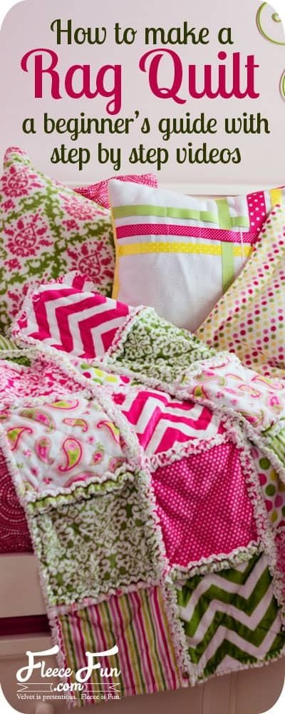 how to make a rag quilt easy beginners guide fleece fun Rag Quilt Patterns Instructions Inspirations