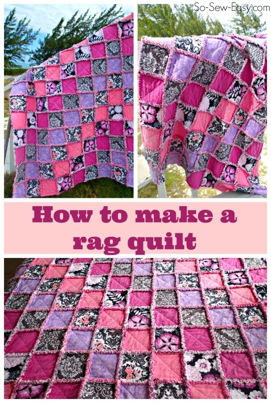 how to make a rag quilt so sew easy Rag Quilt Patterns Instructions Inspirations