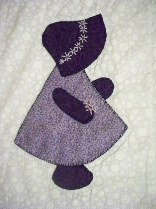 how to make sunbonnet sue blocks feltmagnet Stylish Sue Bonnet Quilt Pattern Gallery