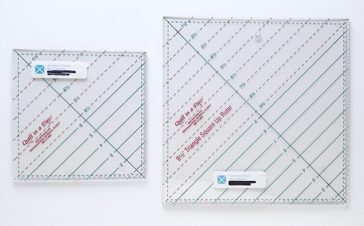 how to square up half square triangles with the quilt in a Modern Half Square Triangle Ruler Quilt In A Day