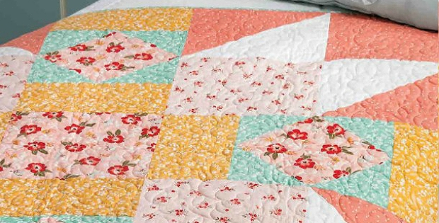 how to supersize a block into a full sized quilt quilting Interesting Full Size Quilt Patterns Gallery