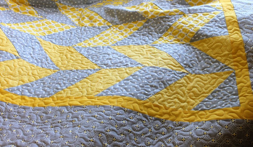 how tos day herringbone quilt christaquilts for Cozy Stippling Quilt Patterns Inspirations