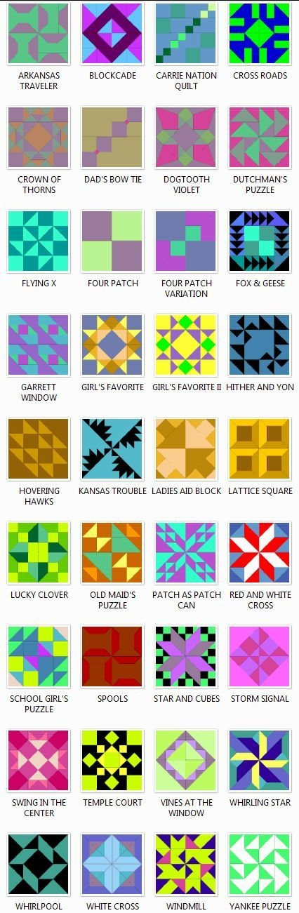 i love the list of proper names i dont have to sayyou Elegant Quilt Pattern Names List Gallery